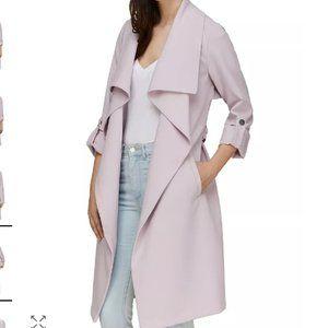 NWT Soia & Kyo Roll Sleeve Drape Long Trench Coat